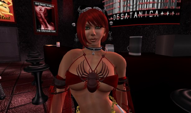 Sindee Devlin at the Desatanica Cafe in Lost Angels